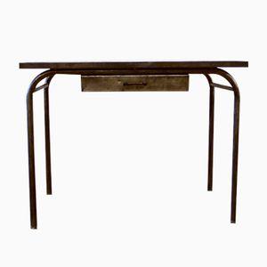 Industrial Brushed Metal Desk, 1940s