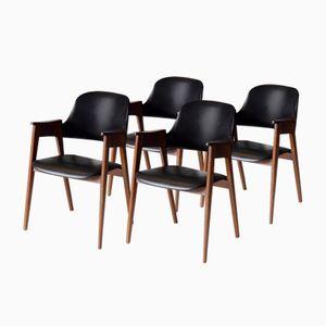 Niederländische Vintage Carver Stühle, 1960er, 4er Set