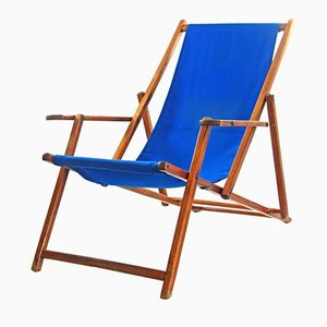 Blue Vintage Adjustable Beach Chair