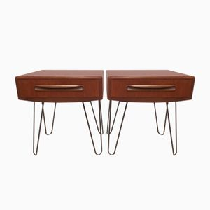 Tables de Chevet Fresco Vintage Industrielles de Victor Wilkins pour G-Plan, Set de 2