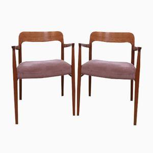 Dänische Modell 56 Armlehnstühle von Niels O. Moller für J.L. Møllers, 1950er, 2er Set