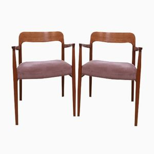 Danish Model 56 Armchairs by Niels O. Moller for J.L. Møllers, 1950s, Set of 2