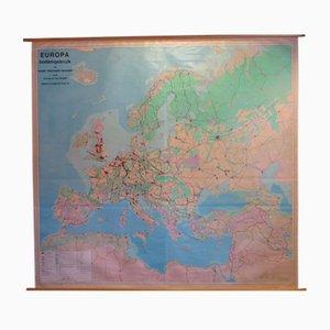 Stampa educativa vintage sullo sfruttamento del suolo in Europa