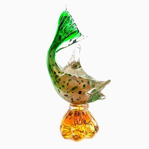 Vintage Murano Glass Fish Vase