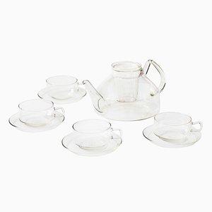 German Glass Tea Set by Wilhelm Wagenfeld for Jena Glas, 1970s