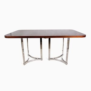 Rosewood & Chrome Dining Table by Richard Young for Merrow Associates, 1960s