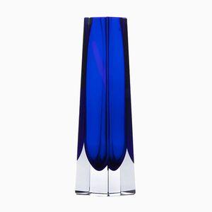 Blaue Sommerso Vase, 1960er