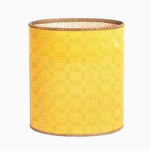 Gelbe Zylindrische Vintage Schachtel
