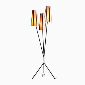 Stehlampe mit Drei Leuchten, 1950er