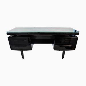 Schwarzer Dänischer Vintage Schreibtisch mit Fünf Schubladen, 1970er