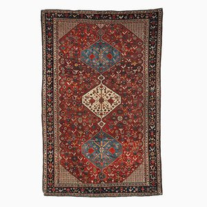 Antique Persian Khamseh Handmade Rug, 1870s