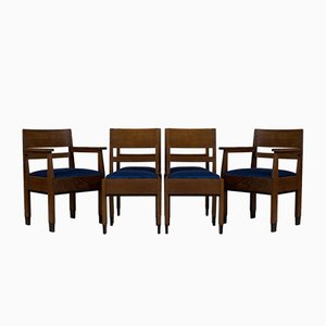 Art Deco Hague School Chairs by H.Fels for L.O.V. Oosterbeek, 1920s, Set of 6