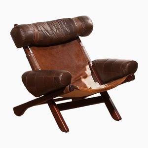 Cow Skin Ox Lounge Chair, 1970s