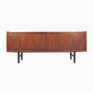Rosewood Sideboard with Sliding Doors, Interior Shelves, and Drawers, 1960s