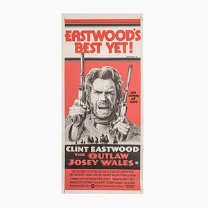 Vintage Australian Film Poster from The Outlaw Josey Wales, 1976