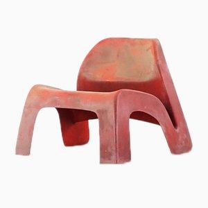 Fiberglas Stuhl von Luigi Colani für Essmann KG, 1967