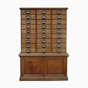 French Oak Notary Filing Cabinet from E.Chouanrad, 1900s