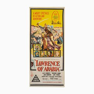 Vintage Australian Original Film Poster for 'Lawrence of Arabia', 1962