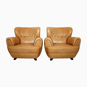 Club Chairs by Guglielmo Ulrich, 1940s, Set of 2