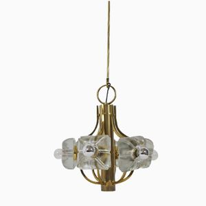 Pendant Lamp in Brass from Simon & Schelle, 1970s