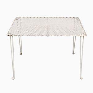 Weißer Perforierter Metall Tisch, 1950er