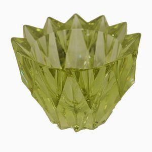 Kristallglas Lotus Vase von Aimo Okkolin für Riihimäen Finland, 1970