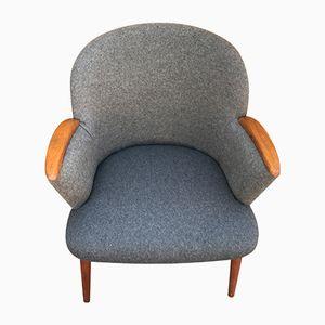 Vintage Easy Chair in Gray Wool from Ølholm Møbler