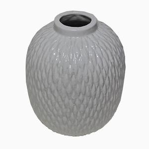 Vintage White Ceramic Vase by Gunnar Nylund for Rörstrand