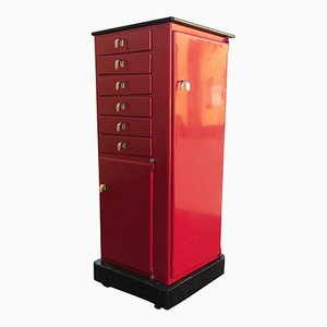 Vintage Red Medical Cabinet from Baisch