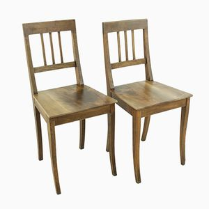 Antique Wooden Chairs, 1890s, Set of 2