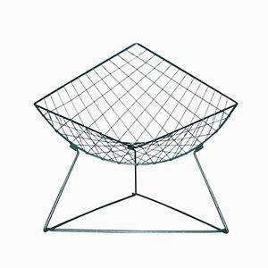 Modell Oti Metalldraht Stuhl in Grün von Niels Gammelgaard für Ikea, 1986