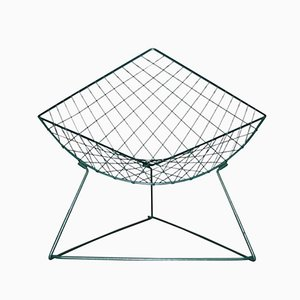 Oti Green Metal Wire Lounge Chair by Niels Gammelgaard for Ikea, 1986