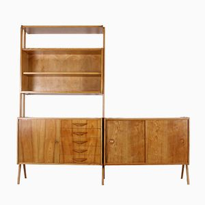 Large Wall Unit by Frantisek Jirak for Tatra Nabytok, 1960s