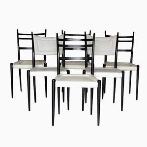 Englische Holz & Kunstleder Esszimmerstühle von G-Plan, 1962, 6er Set
