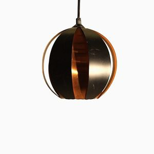 Mid-Century Globe Shaped Pendant Light by Werner Schou
