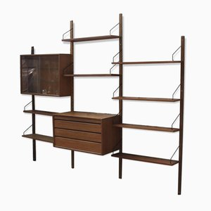 Large Danish Wall Unit by Poul Cadovius for Royal System, 1950s