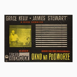 Vintage Das Fenster zum Hof Filmplakat von Witold Janowski