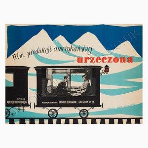 Poster vintage del film Spellbound, Polonia