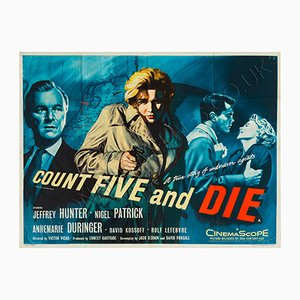 Count Five and Die Film Poster by Tom Chantrell, 1957