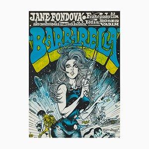 Poster du Film Barbarella par Karel Saudek, 1971