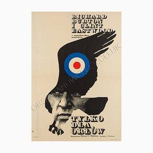 Poster du Film Where Eagles Dare par Maciej Zbikowski, Pologne,1972