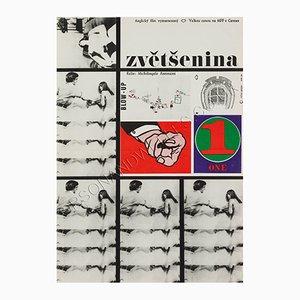 Czech Blow-up Film Poster by Milan Grygar, 1963