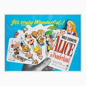 Mid-Century Alice in Wonderland Film Poster