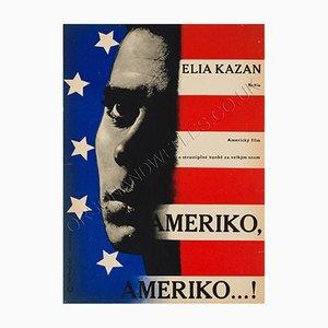 Amerika Amerika Filmplakat von Richard Fremund, 1960er