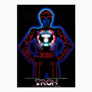 Vintage Japanese TRON Poster, 1982