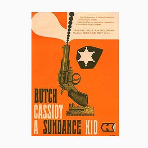 Poster del film Butch Cassidy and the Sundance Kid, Repubblica Ceca, anni '70