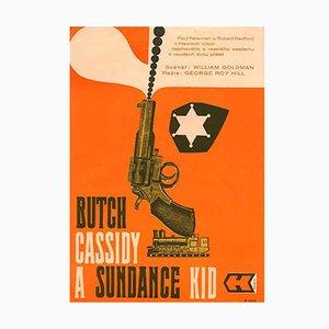 Tschechisches Zwei Banditen Filmplakat, 1970er
