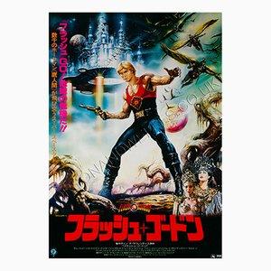 Japanisches Flash Gordon Filmplakat von Renato Casaro, 1980er