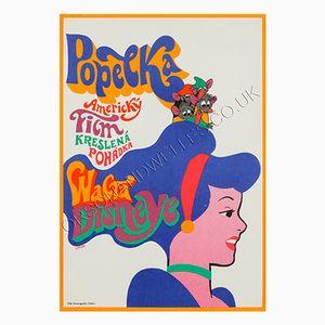 Poster du Film Cinderella par Karel Vaca, République Tchèque, 1970
