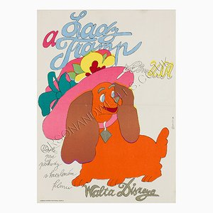 Poster du Film Lady and the Tramp par Stanislav Duda, 1974